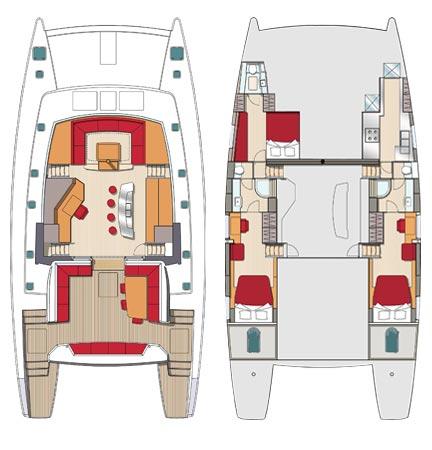3 cabines