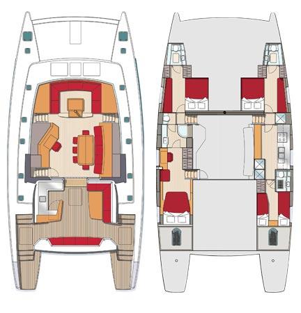 4 cabines