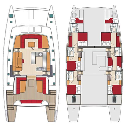 Croisière 6+2 cabines