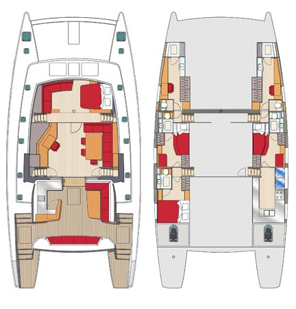 Sea view 4 cabines