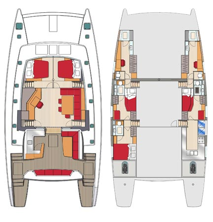 Sea view 5 cabines